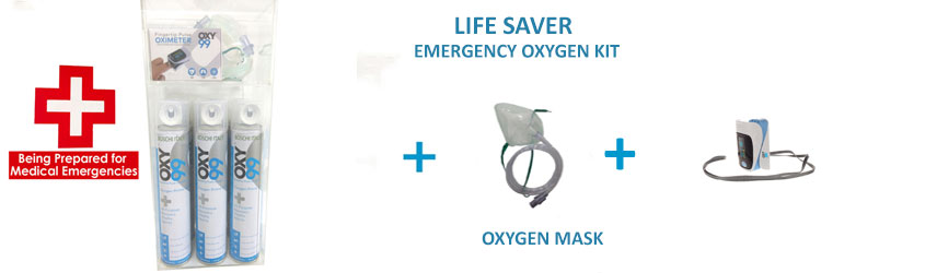Portable Medical Emergency Oxygen Kit